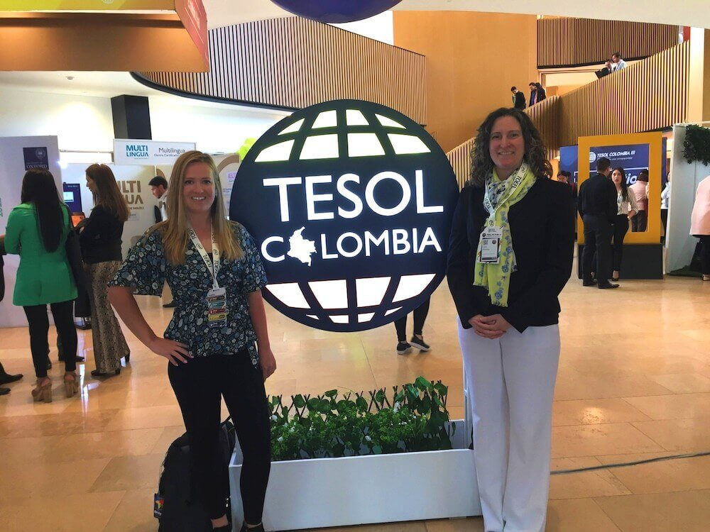 Teachers at a TESOL Conference