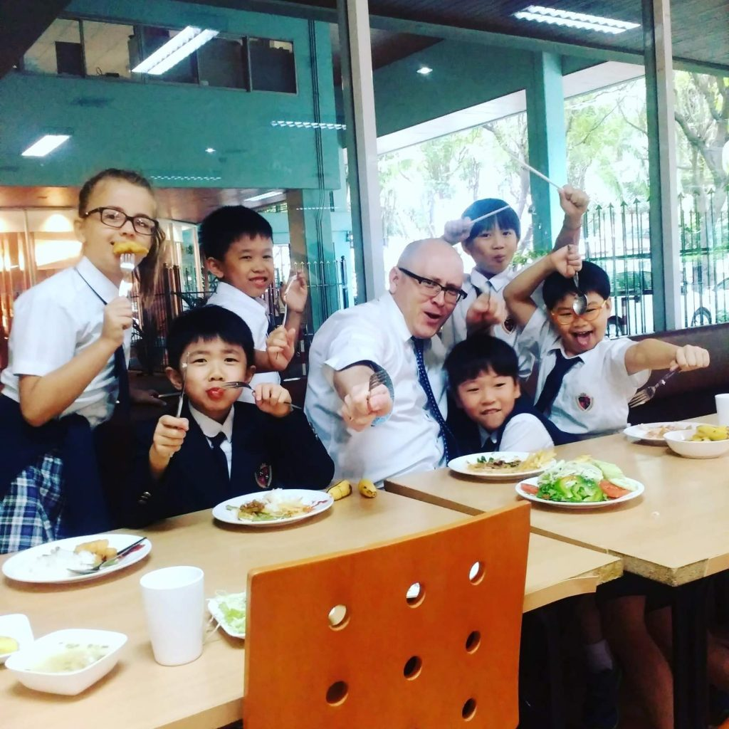 lunchtime with students