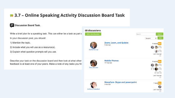 Discussion Boards in the Teaching English Online Course