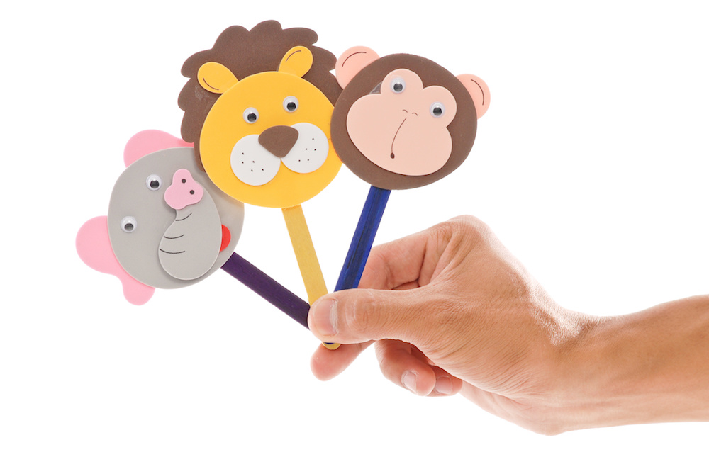 Popsicle Stick Animal Puppets
