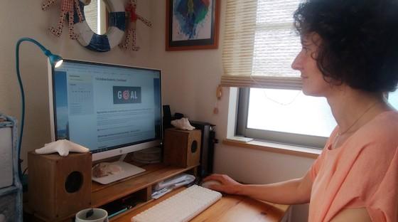 Johanna, English teacher transitioning online
