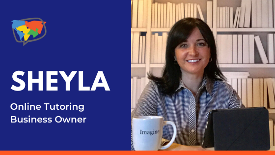 Online English tutor, Sheyla