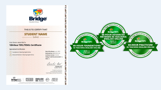 Teaching English Online Certificate and Digital Badges