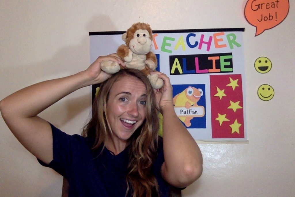 Online ESL teacher Allie, from the U.S., works for PalFish