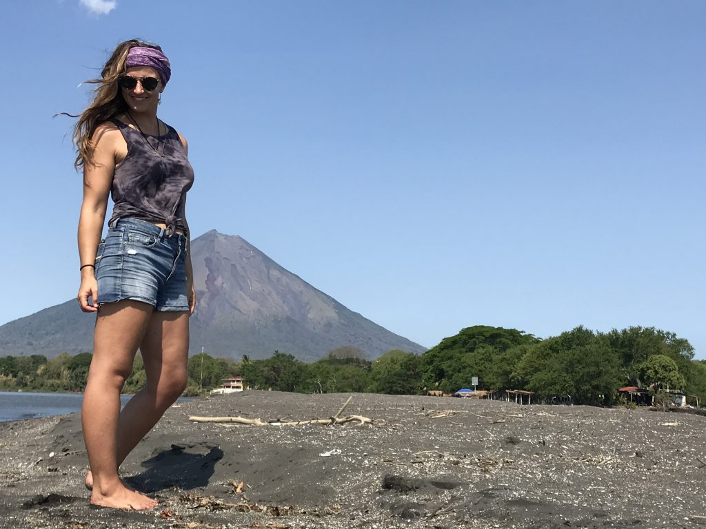 Allie during one of her adventures on Ometepe Island