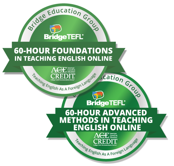 digital badges for Bridge courses in teaching English online
