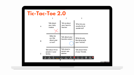 Tic-Tac-Toe 2.0 Game for Teaching English Online