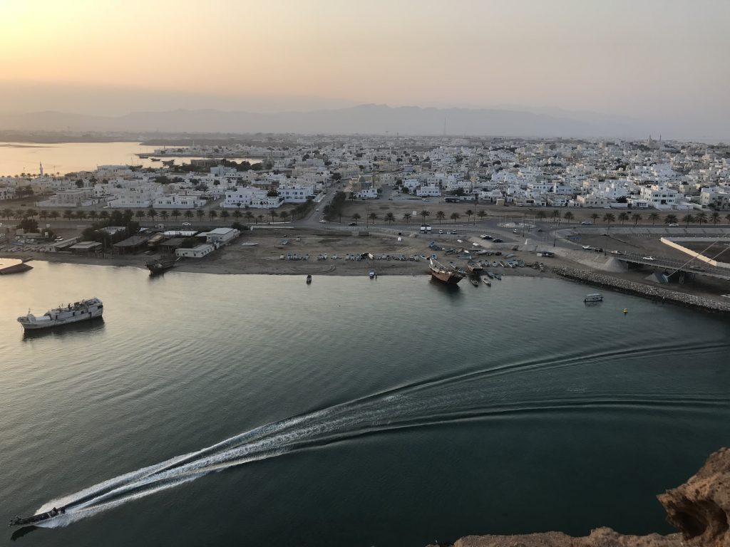 View from a watchtower in Oman