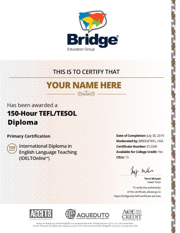 IDELTOnline Certificate