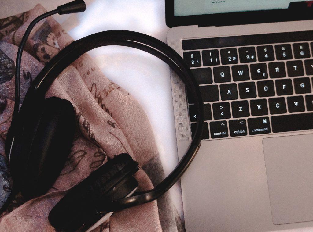 Online teaching headset