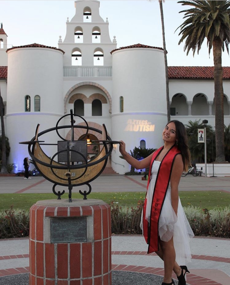 Brenda during her graduation at San Diego State University