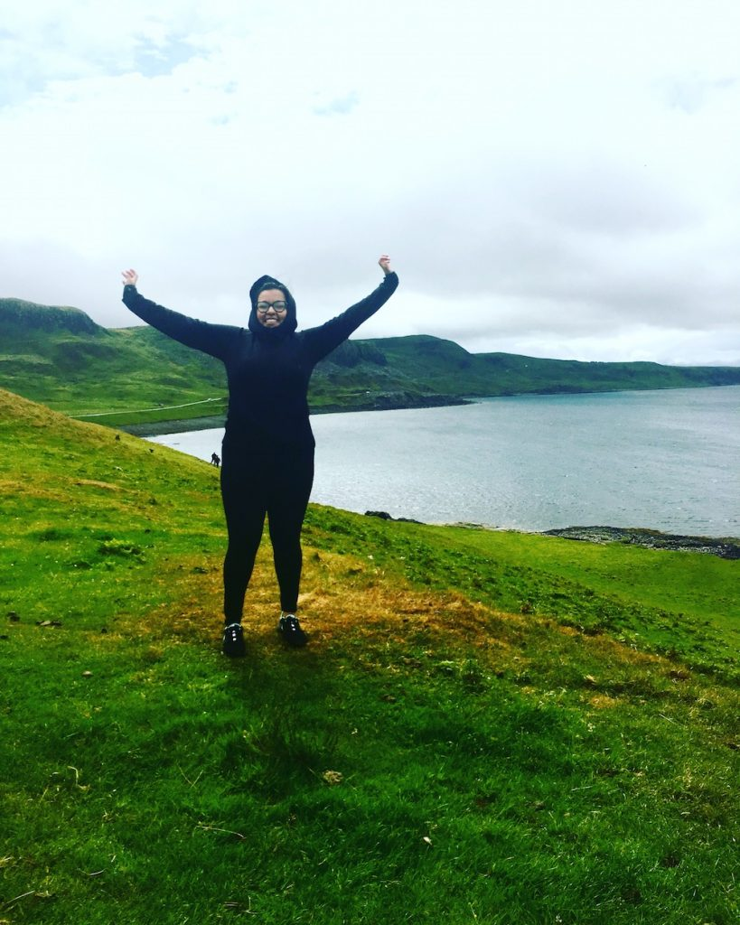 Mari in Scotland, where she's currently based as an online English teacher