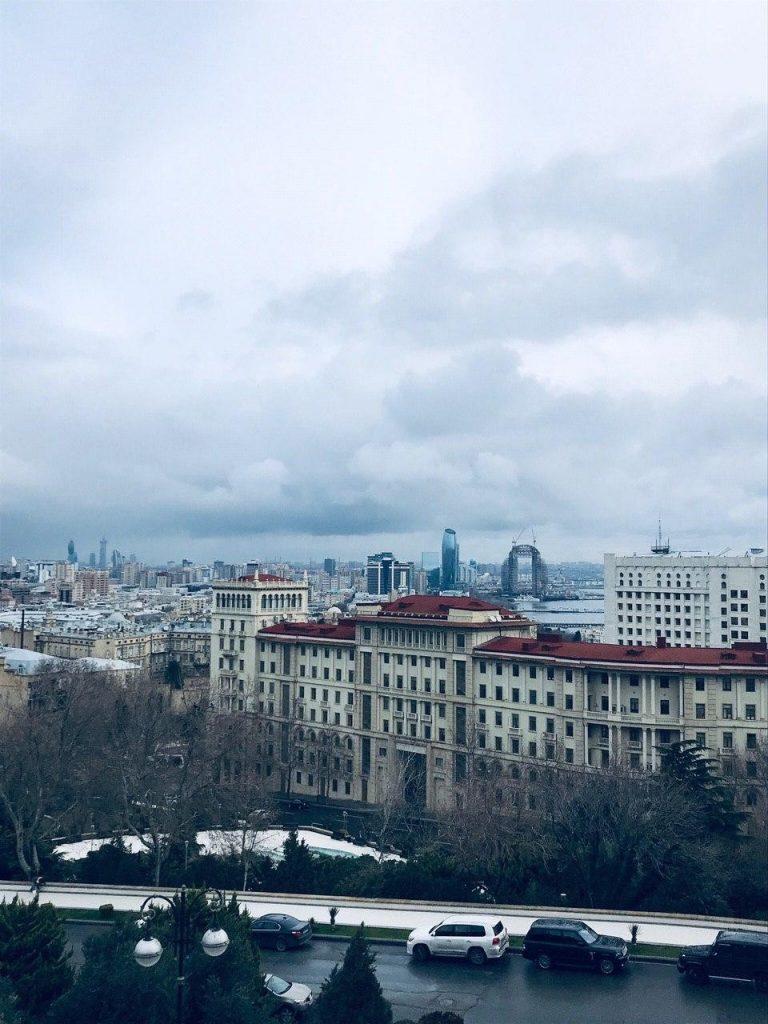 The city of Baku in Azerbaijan