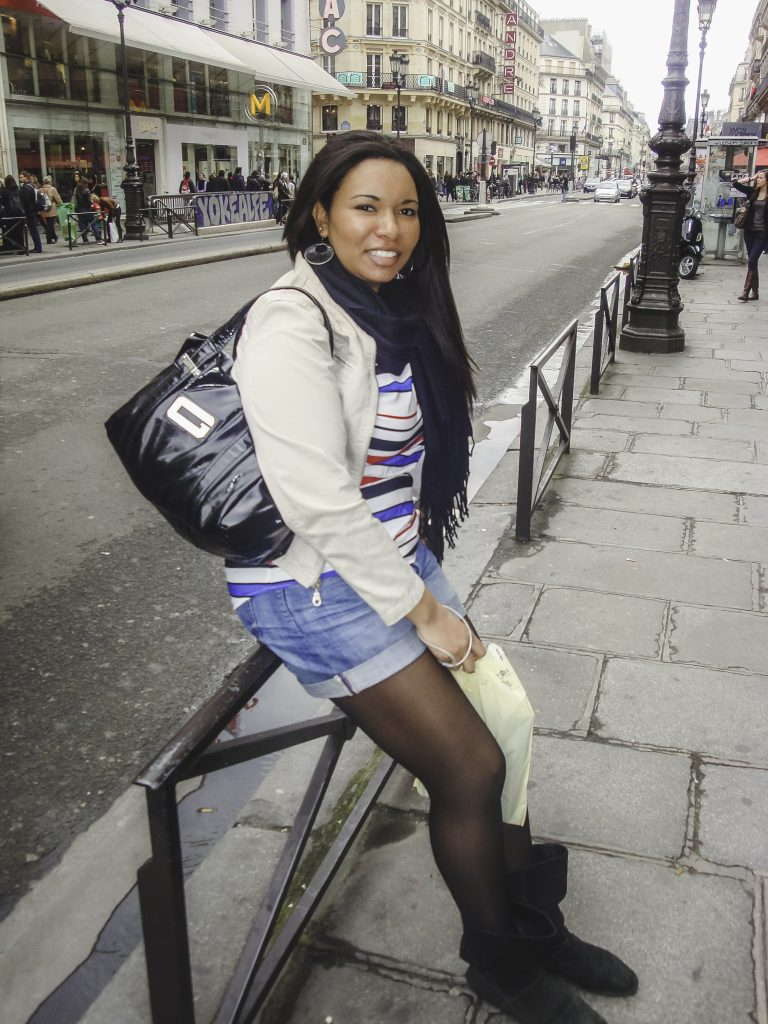 Sophia on the streets of Paris