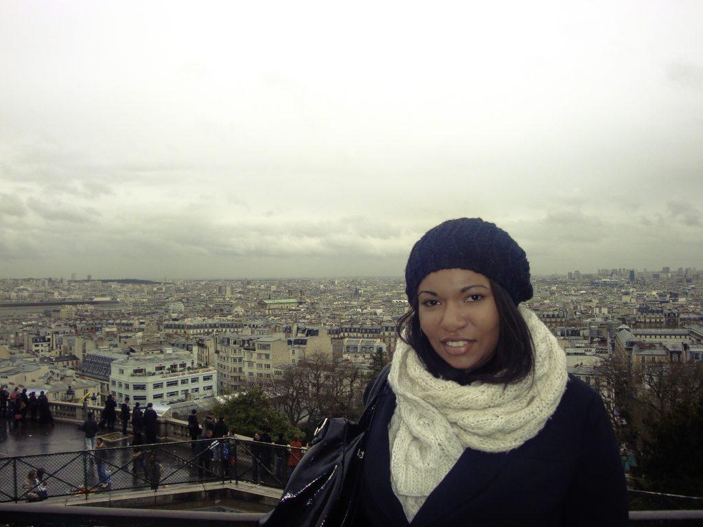 Sophia traveling around Paris