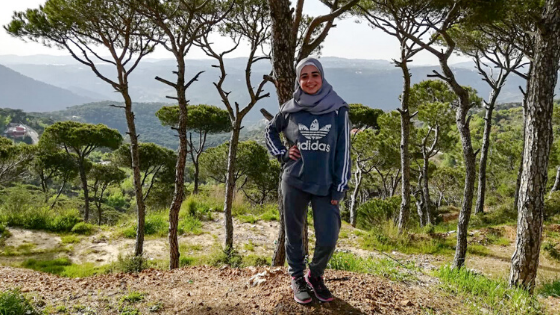 Hawra, from the U.S., is a kindergarten English teacher in Lebanon
