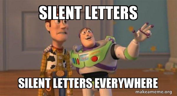 A meme about pronouncing English words