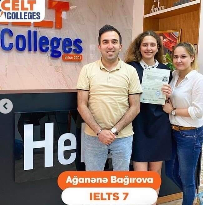 IELTS teacher Nasim, from Iran, with some of her students.