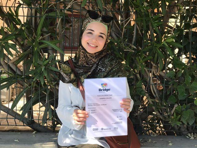 teacher with TEFL certificate