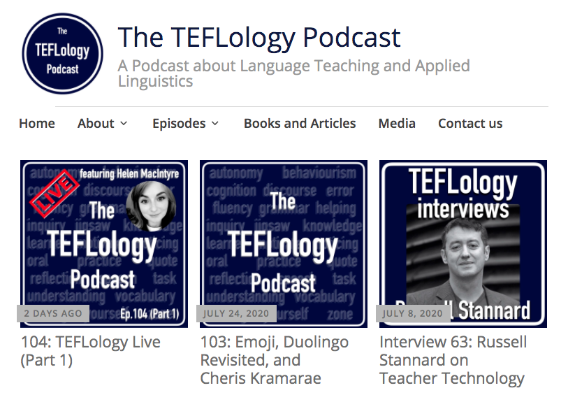 The TEFLology ESL podcasts homepage