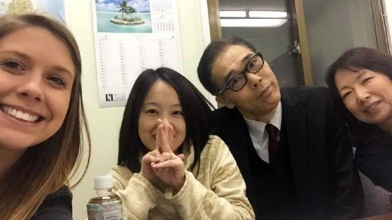 Taylor Swartz teaching in Japan