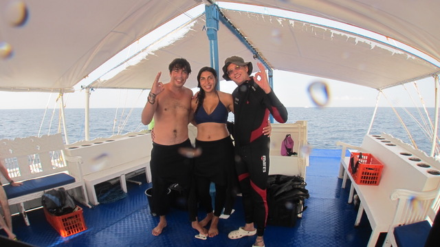 Paul with his scuba diving students in the Philippines.
