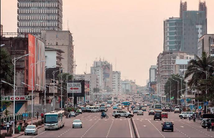 The city of Kinshasa, the capital of the Democratic Republic of Congo