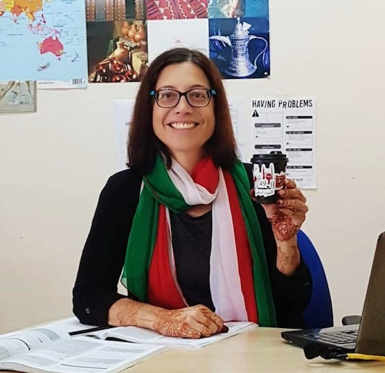 Erin CoyIe, English teacher in Oman
