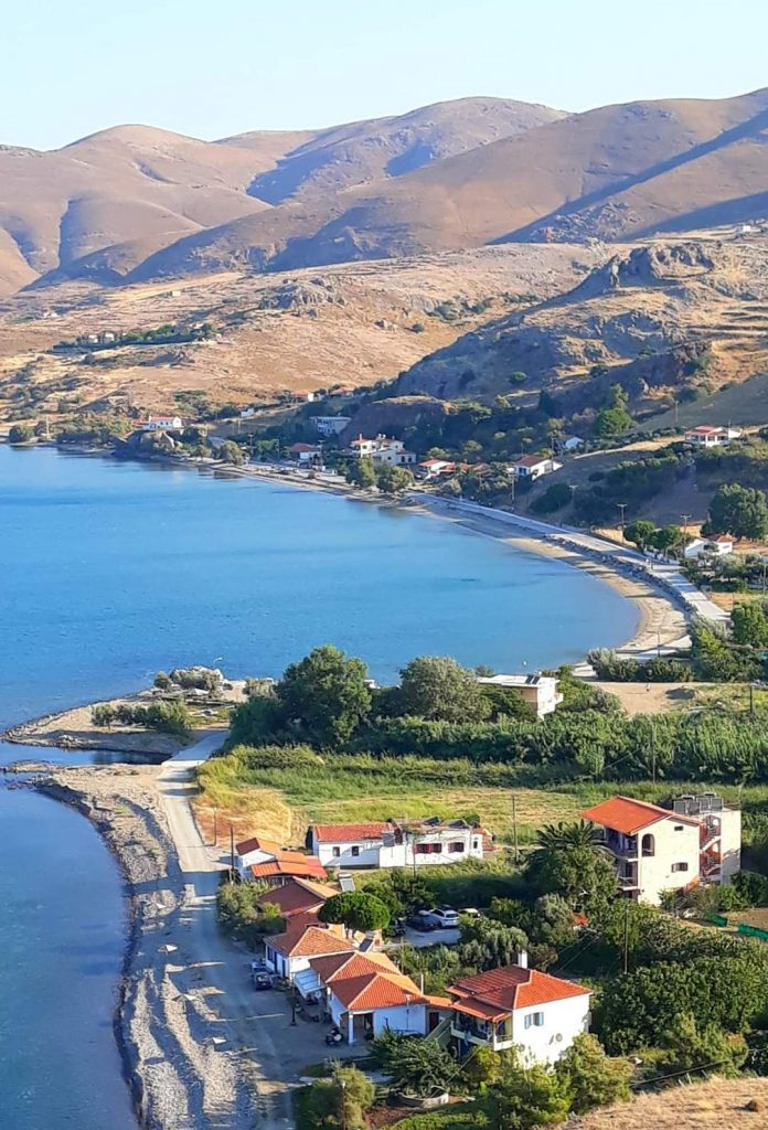 The island of Lemnos in Greece.