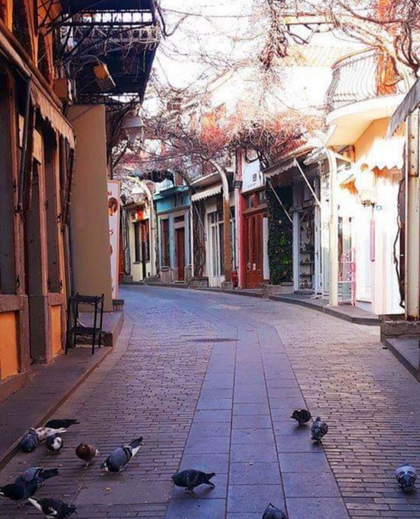 A stone-paved alley in Lemnos