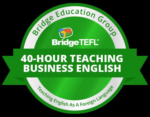 TEFL/TESOL digital badge for teaching business English