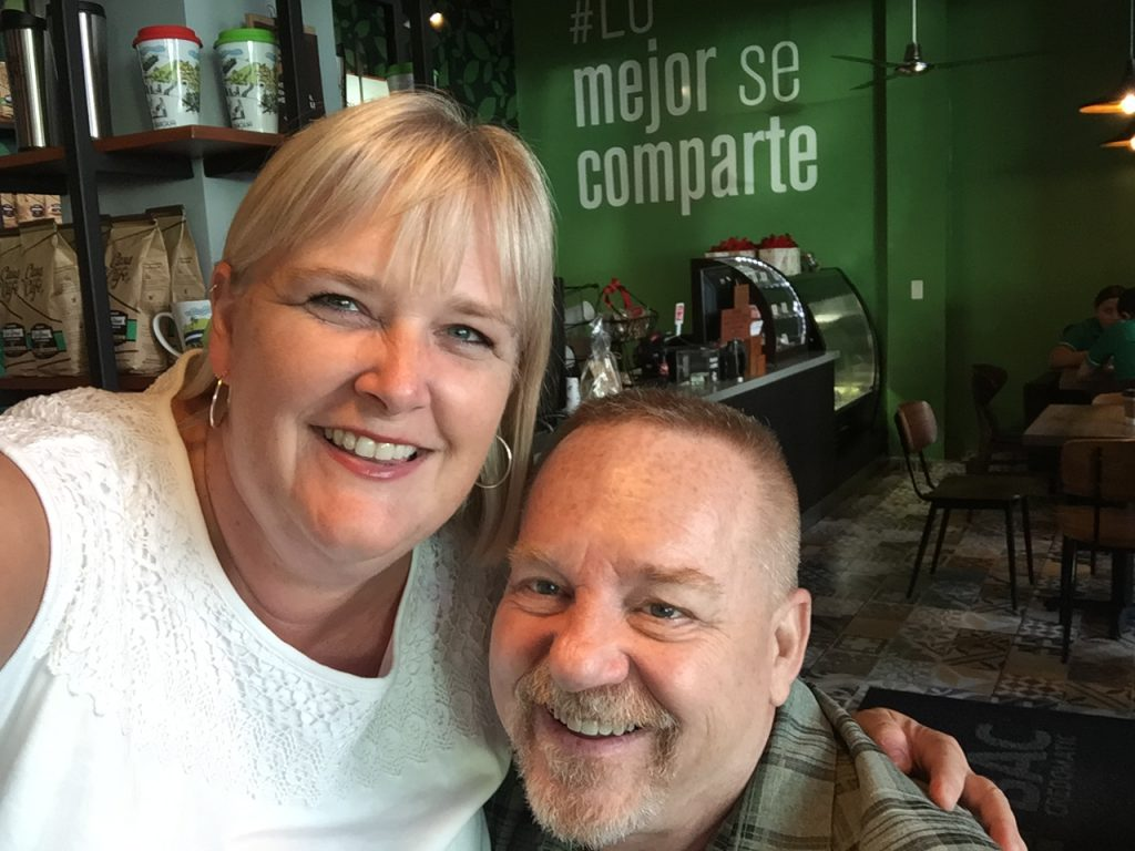 Natalie with her husband in Nicaragua
