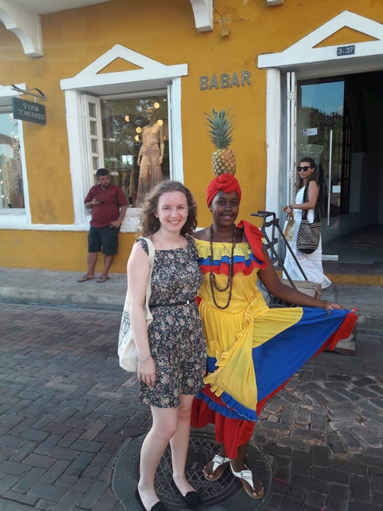 Camille, English teacher in Colombia