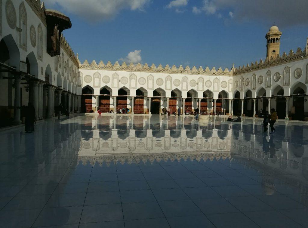 The Al-Azhar Mosque in Cairo, Egypt