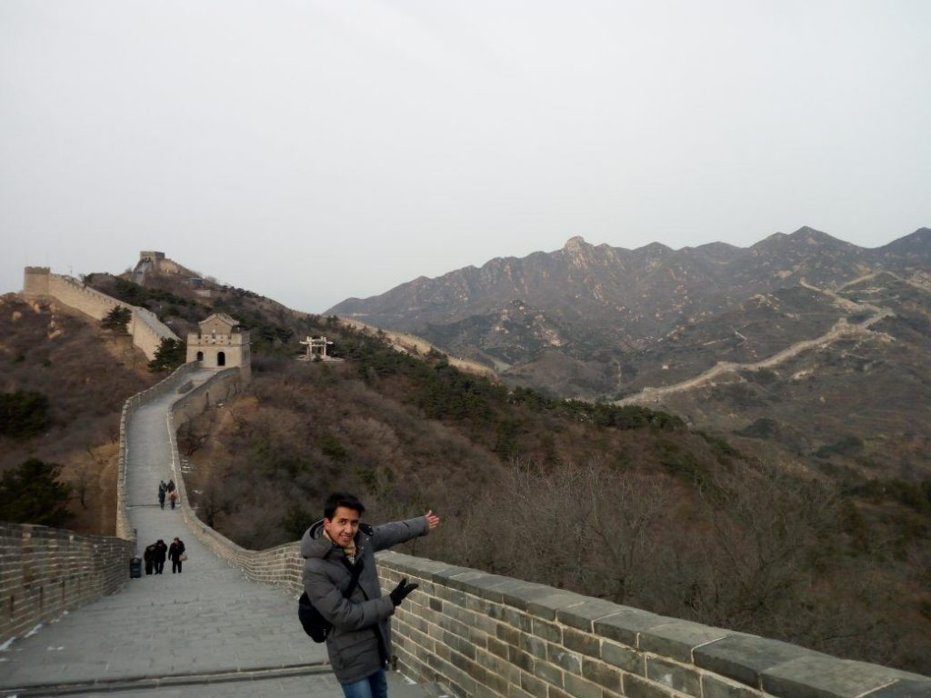 Andres on the Great Wall during his month-long trip to China in 2017.