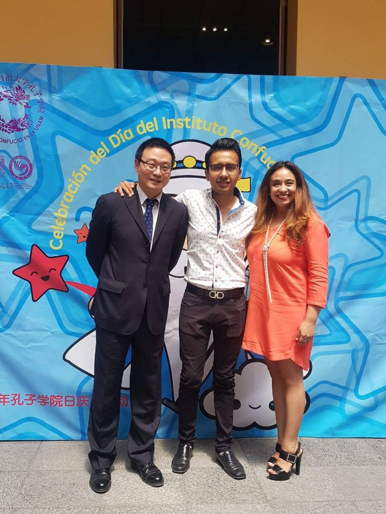 Andres during an event at Instituto Confucio, a language center, in Mexico City.