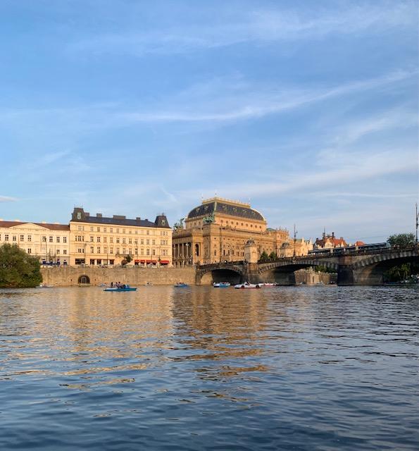 The Vitava River in Prague