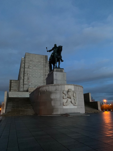 The National Monument on top of Vítkov Hill in Prague