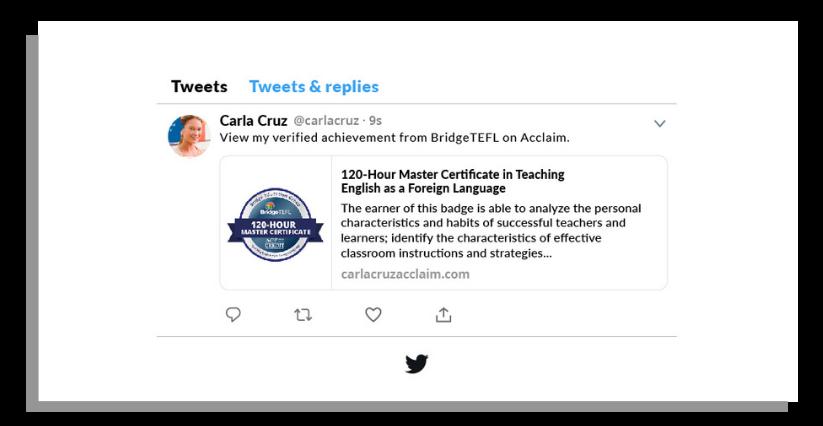 Bridge digital badge on Twitter