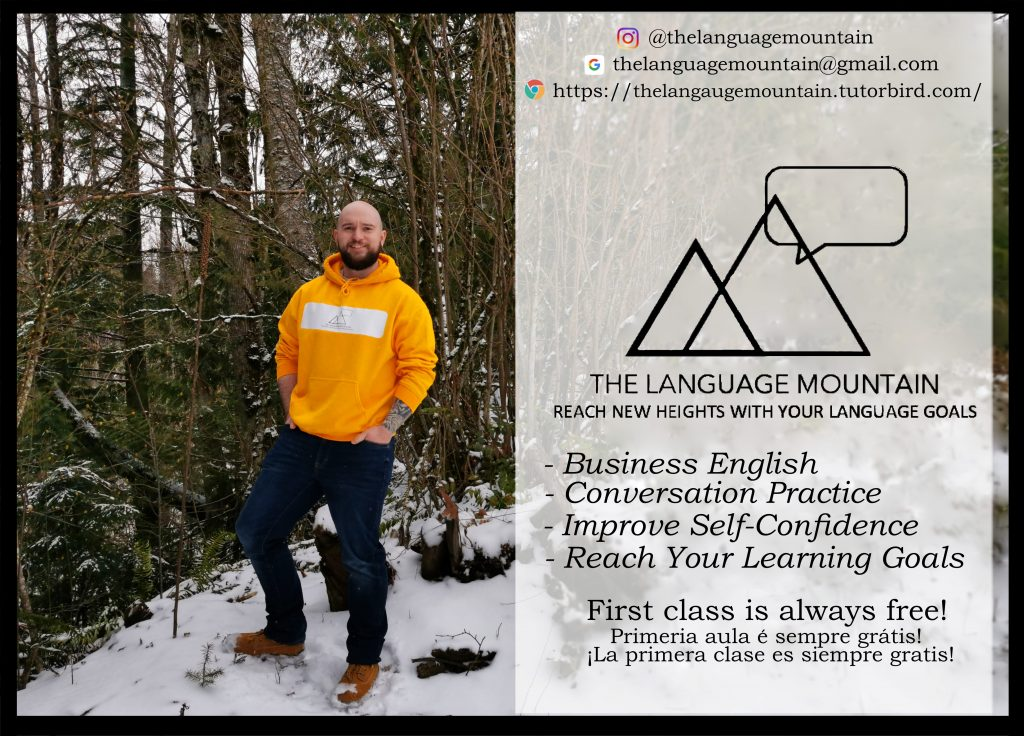 Rory's flyer for his online English school