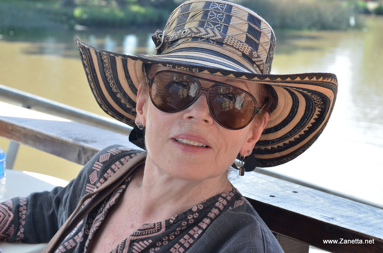 Anne enjoying the summer during a vacation abroad