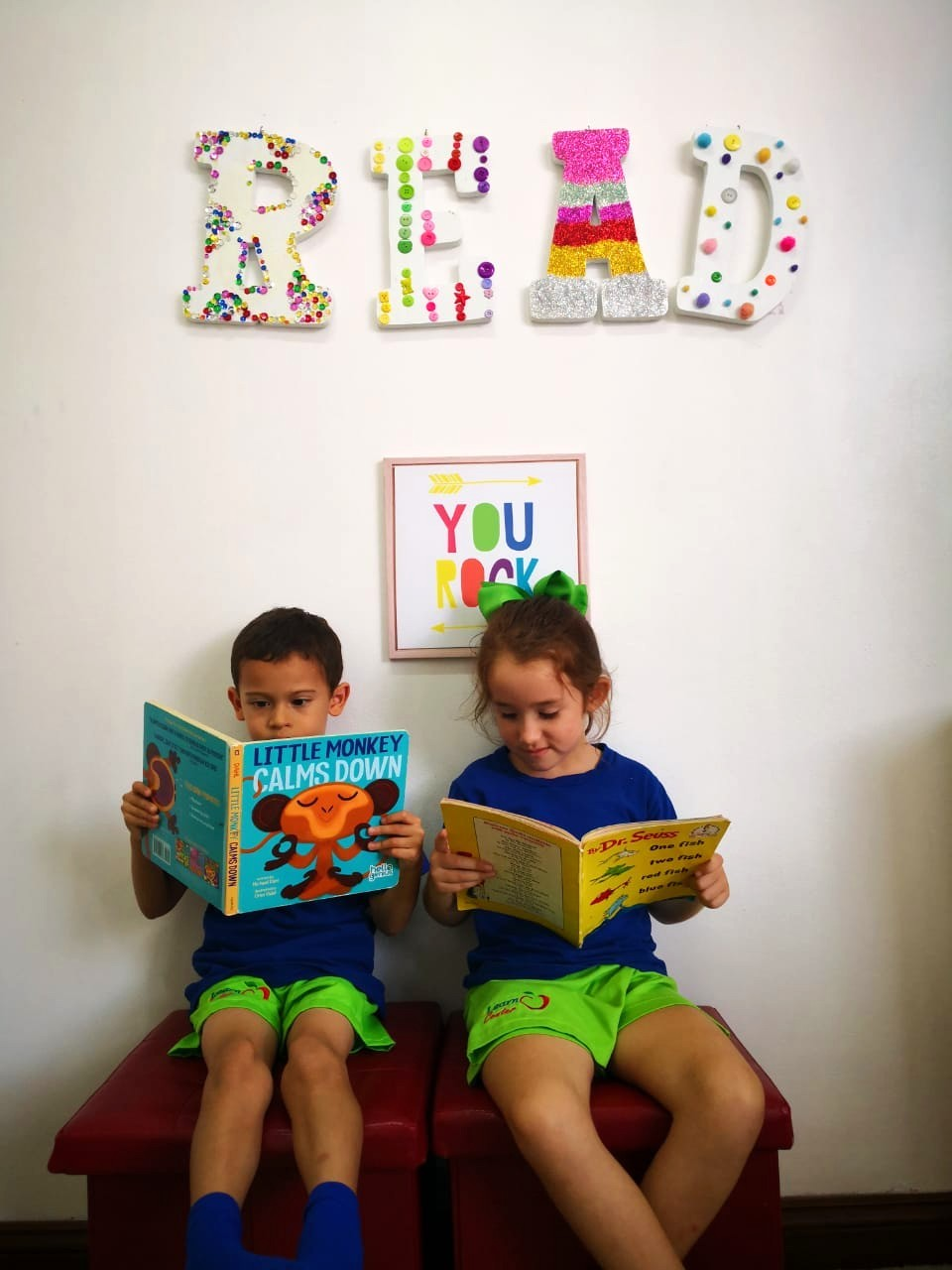 young learners reading in an EFL class