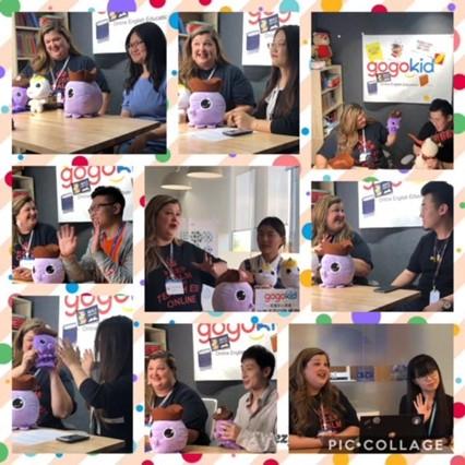 Kristie coaching a workshop for GOGOKID teachers