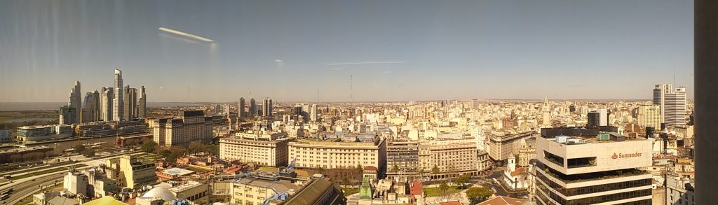 A view of downtown Buenos Aires from the company where Lisa teaches.