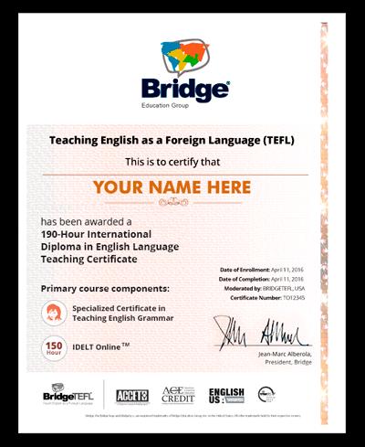 TEFL Certificate in Teaching English Grammar
