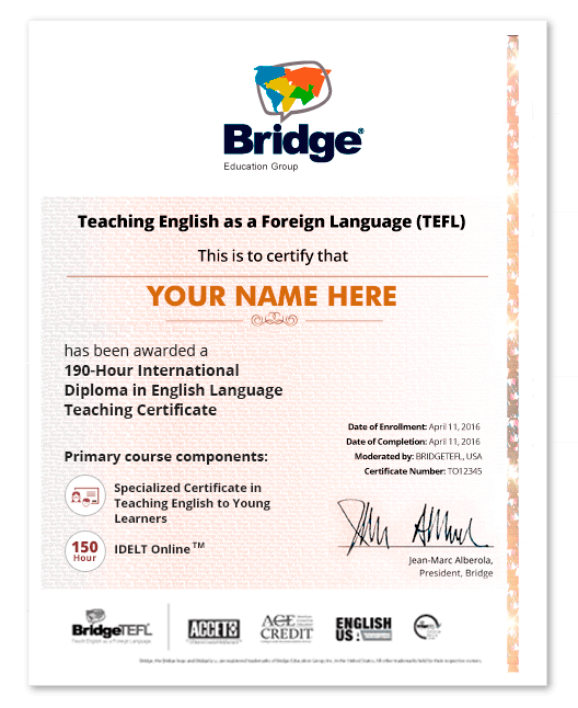 Tefl Certificate In Teaching English To Young Learners