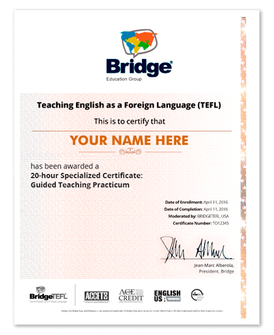 Guided TEFL Teaching Practicum