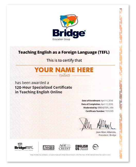 TEFL Certificate in Teaching English Online | 50 or 100-Hours