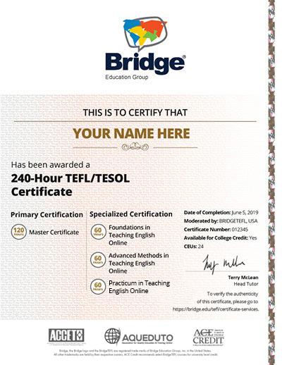 240 Certificate