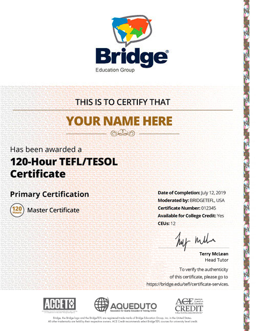 120-Hour Online TEFL/TESOL Course - Master Certificate